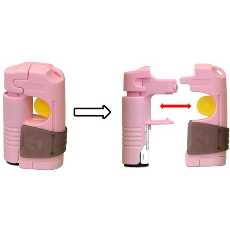 Appareil d'alarme TORNADO Defence System - Alarme + Spray - Rose