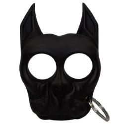 Poing américain porte clés pitbull - Noir