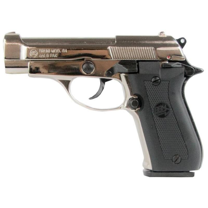 Pistolet alarme BRUNI Mod. 84 nickelé Cal. 9mm