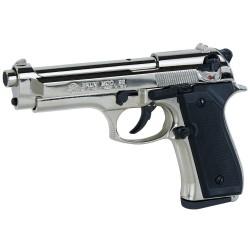 Pistolet alarme BRUNI Mod. 92 nickelé Cal. 9mm