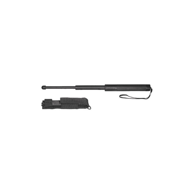 Matraque télescopique rigide noire ( 41 cm ) - Nylon