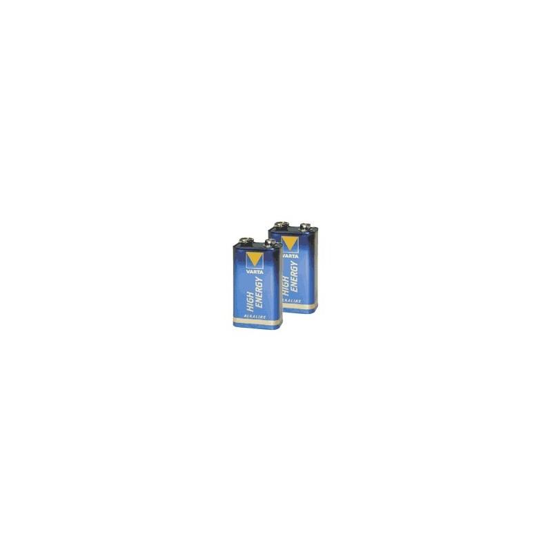 Lot de 2 piles alcaline 9V (6LR61)