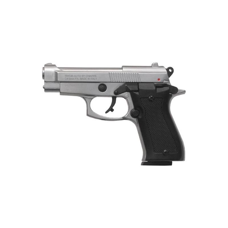 Pistolet alarme ARMI SPORT Mod. 85 nickelé Cal. 9mm