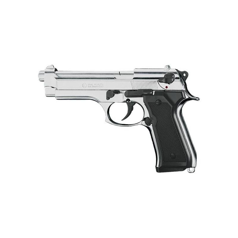 Pistolet alarme KIMAR Mod. 92 nickelé Cal. 9mm
