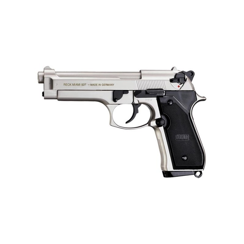 Pistolet d'alarme UMAREX RECK Miami 92F nickelé Cal. 9mm