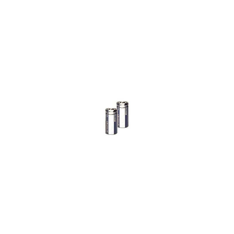 Lot de 2 piles lithium CR123A 3V
