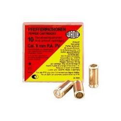 Cartouches 9mm Pistolet à gaz poivre / 10