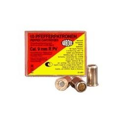 Cartouches 9 mm Revolver à gaz poivre / 10 cart.