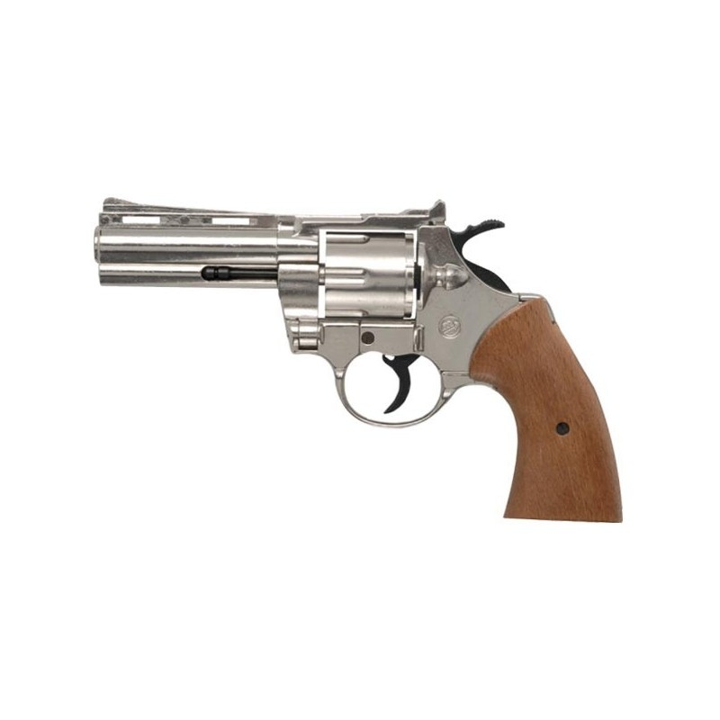 Revolver alarme BRUNI - PYTHON nickelé - Cal. 9mm