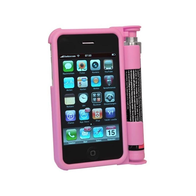 Aérosol poivre SMARTGUARD sur coque Iphone 3 - Rose