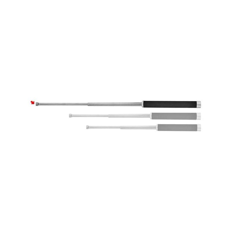 Matraque télescopique rigide PIRANHA - Light - nickelée - 26 pouces - Poignée mousse