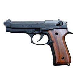 Revolver d alarme KIMAR - Cal. 9mm - Mod. 92 noir - Crosse bois